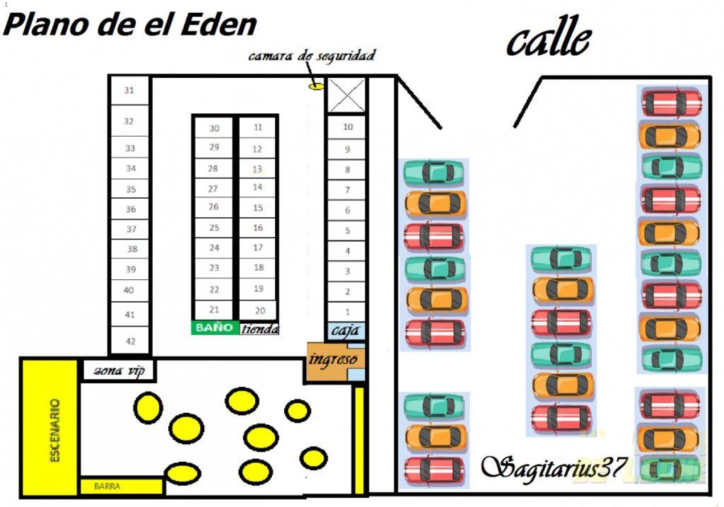 CROQUIS de cuartos del chongo El EDEN
