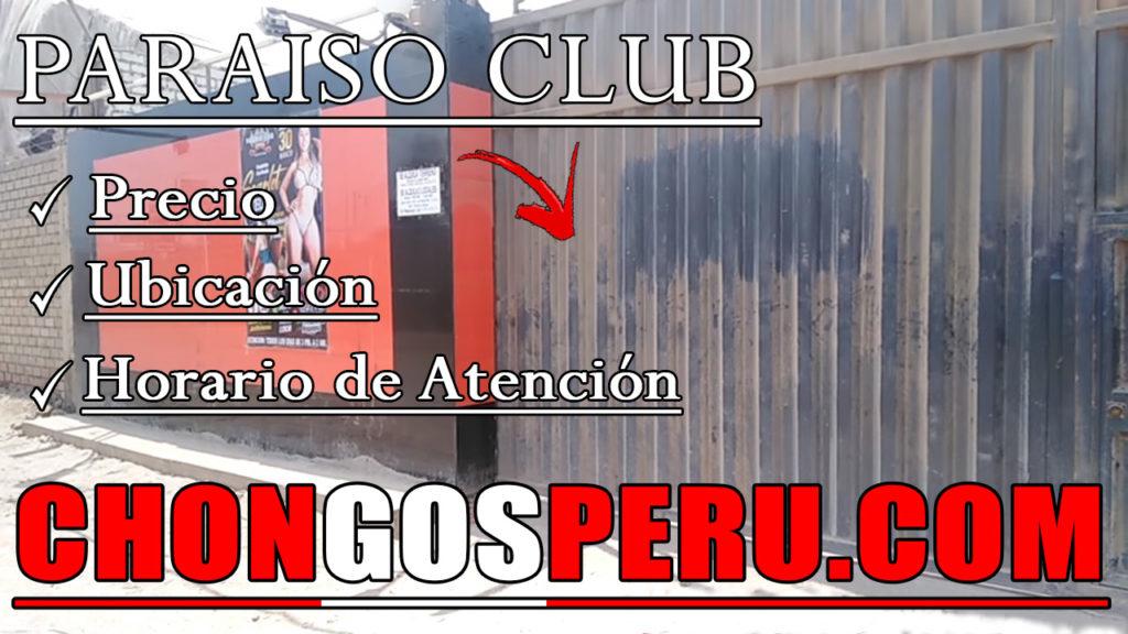 Paraiso Club chongo prostibulo puente piedra kines