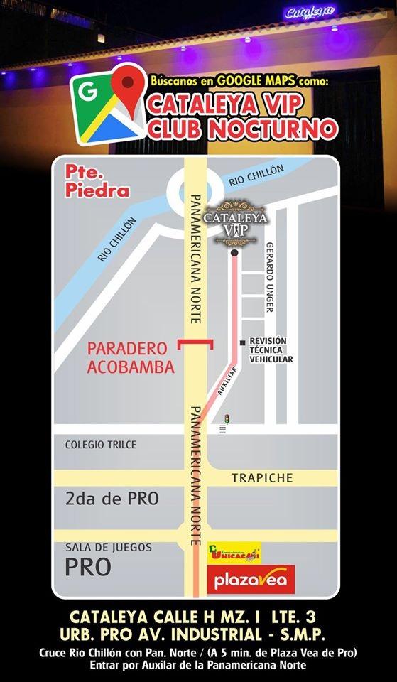 Cataleya VIP ubicacion del chongo los olivos